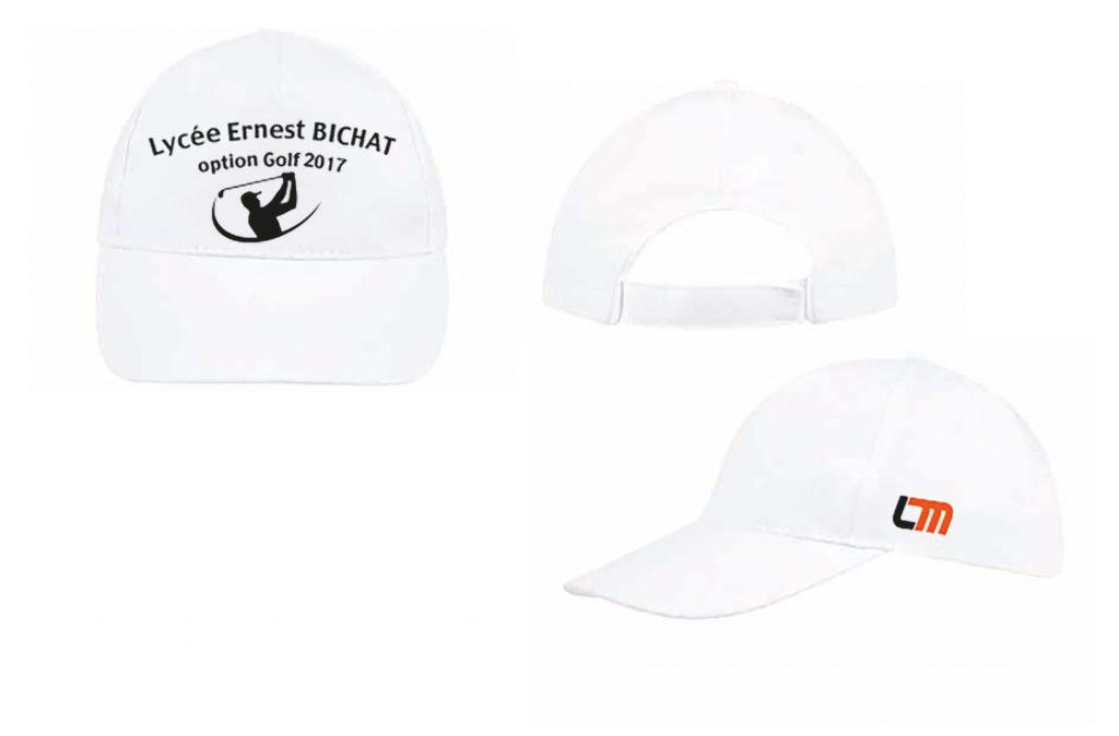 casquettes brodées vêtements publicitaires golf nancy