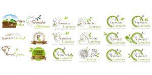 création de logo les fermiers lorrains