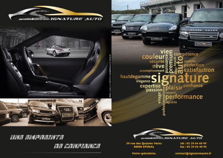 plaquette commerciale signature auto