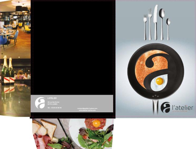 pochette commerciale l'atelier restaurant nancy