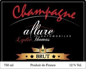 étiquette personnalisée pour bouteilles de champagnes