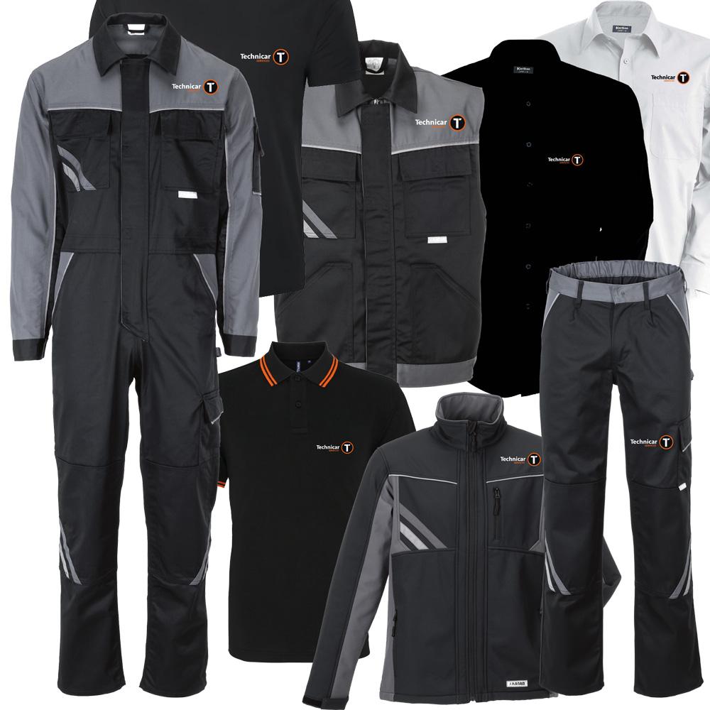 Gamme de vêtements pour Technicar Services