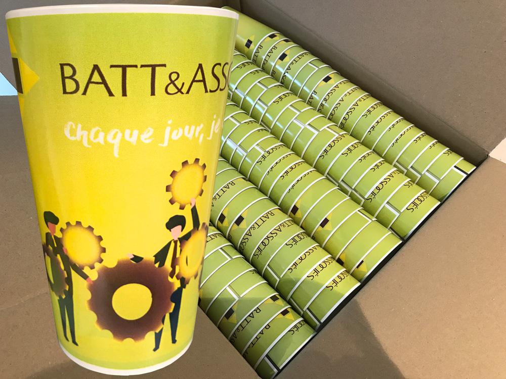 Goblets personnalisés pour BATT et Associés