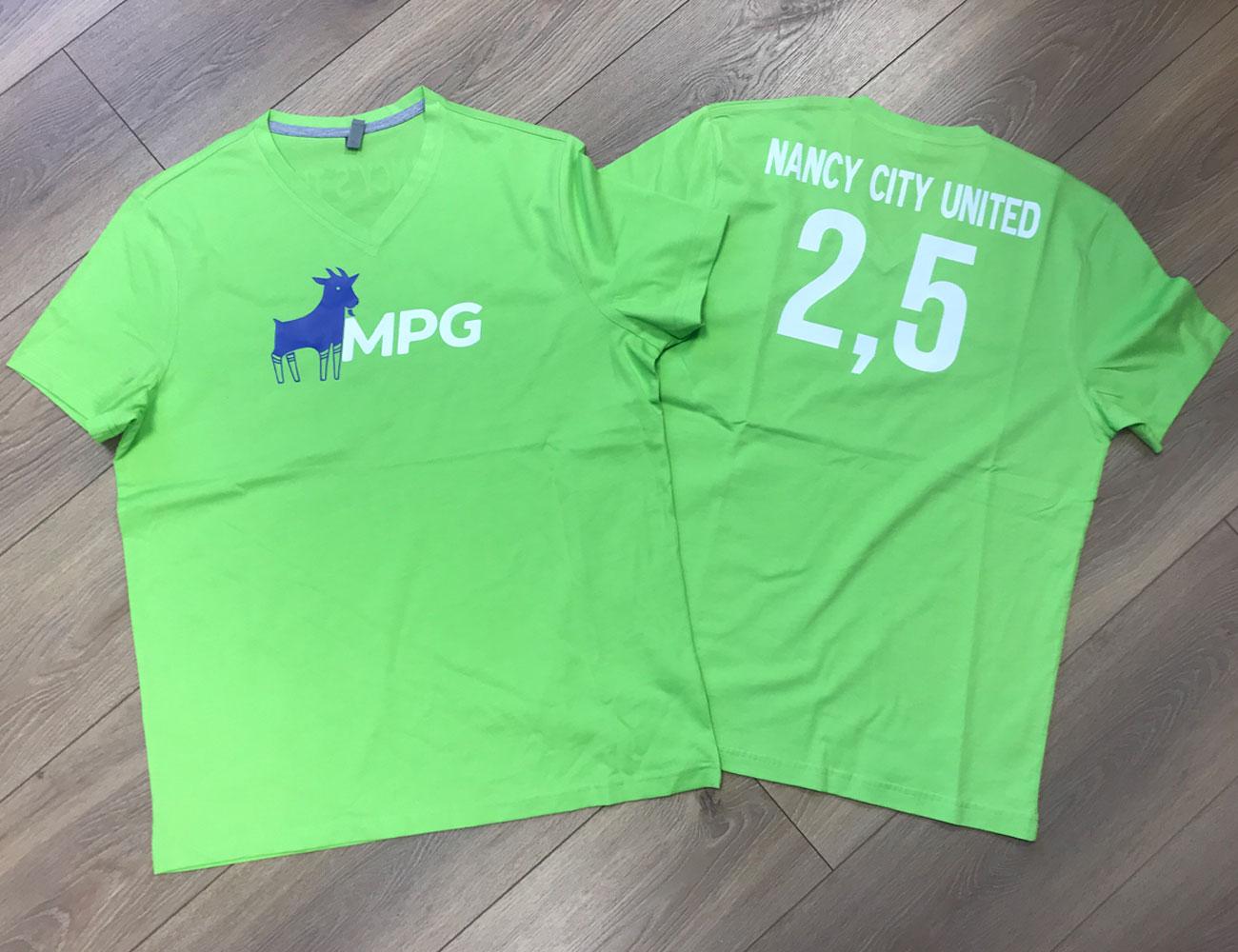 T-shirts avec marquage transfert Flex bi-color